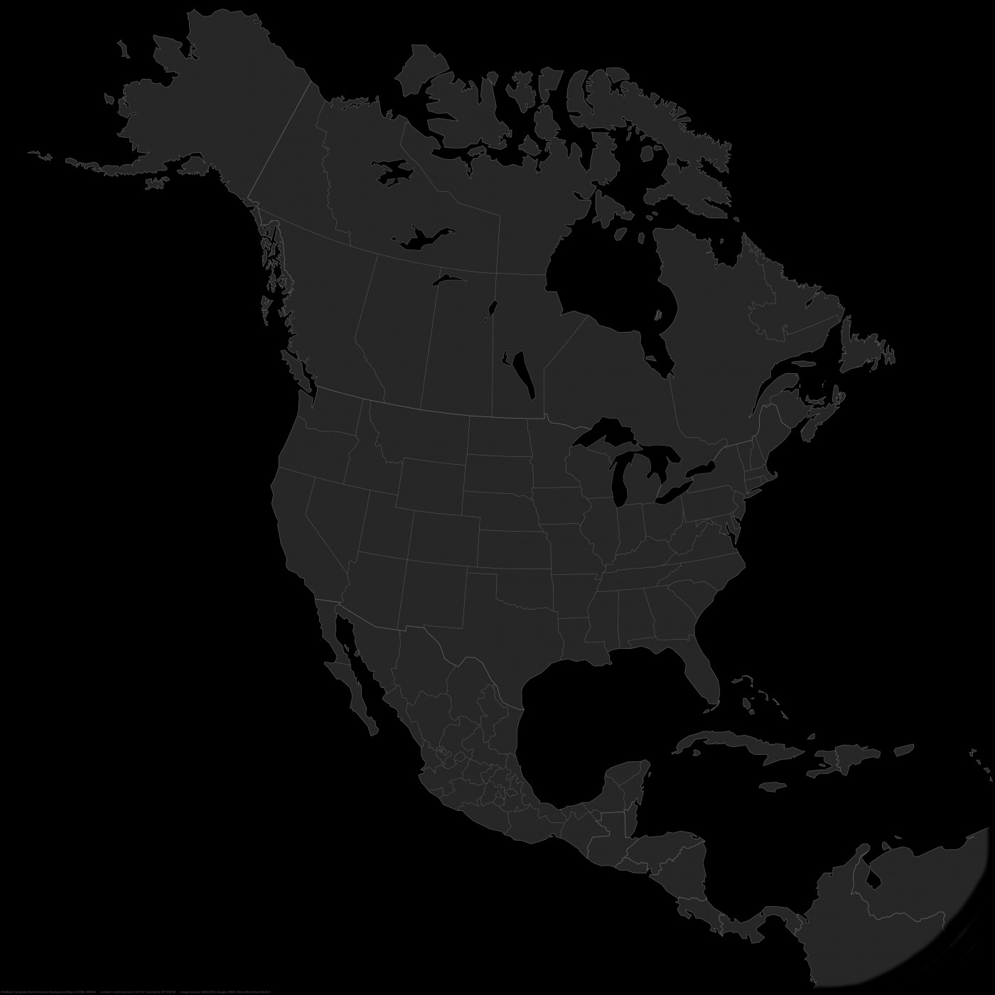 ProMods Complete North American Map Background