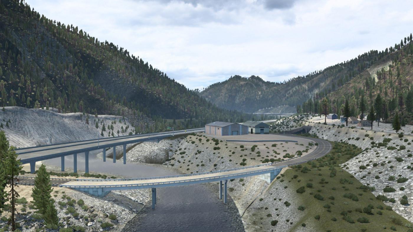 Interstate 80 near Truckee, California, USA