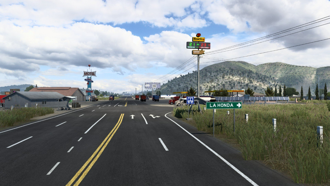 Truck stop La Honda, in Zacatecas, Mexico